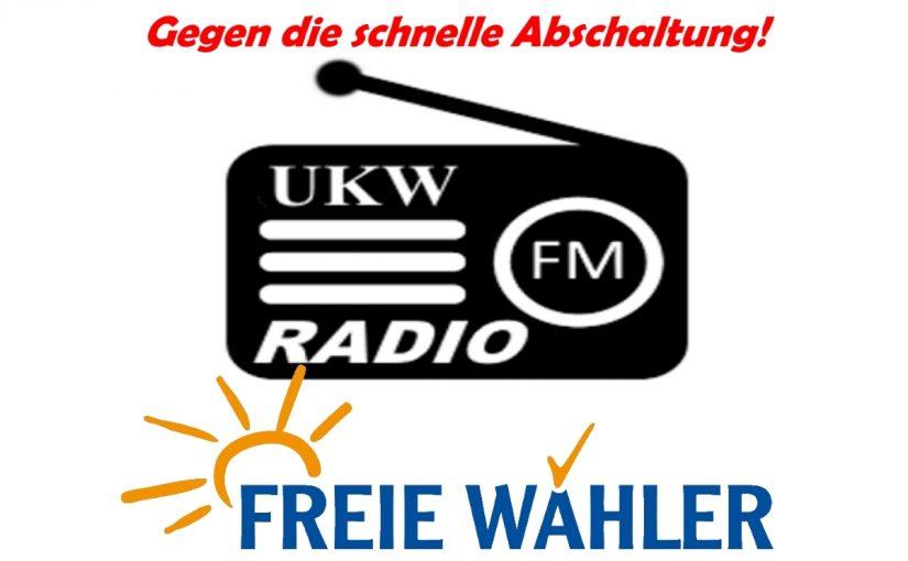 GroKo will UKW-Radio schnell abgeschalten!